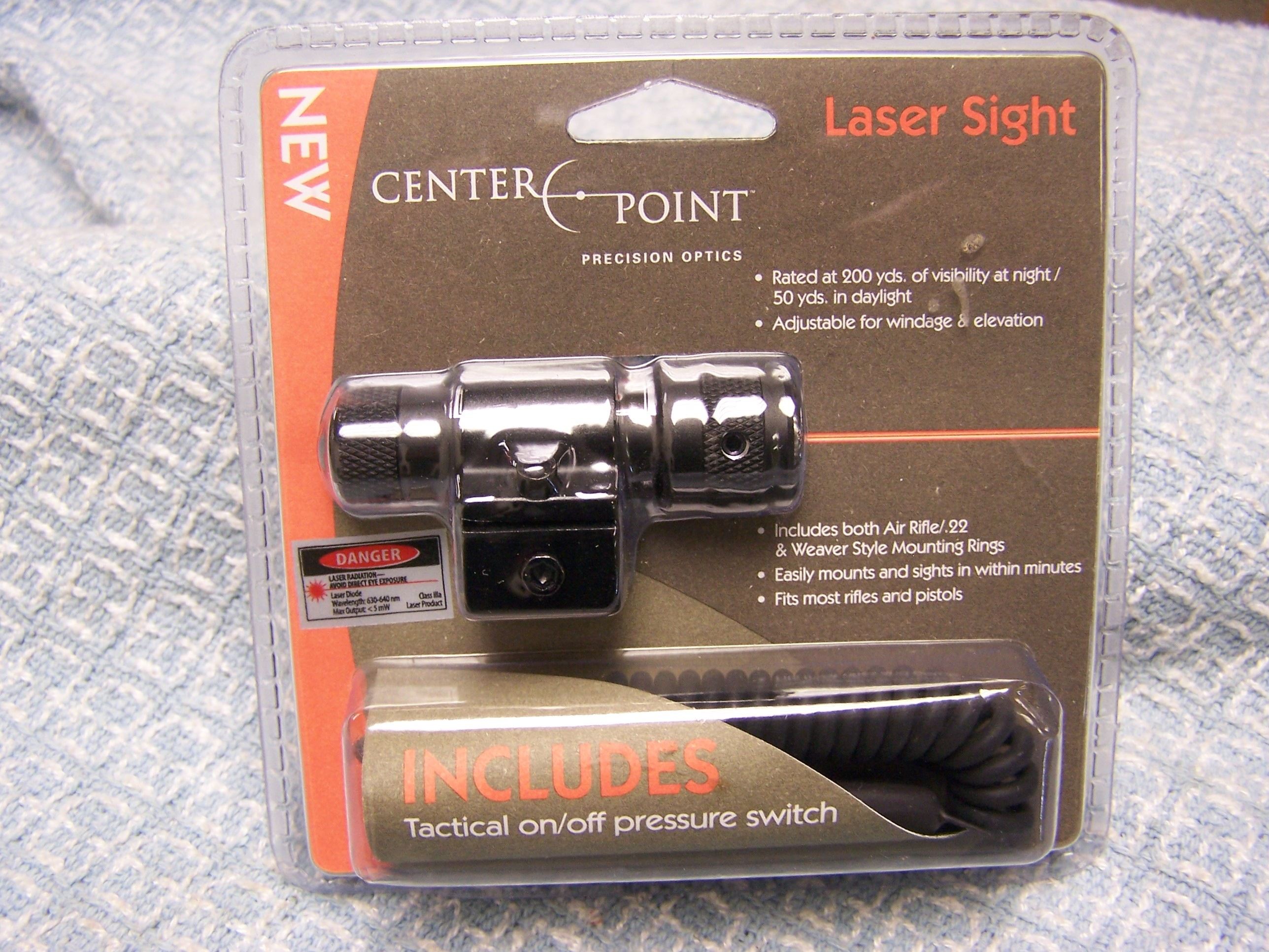 CENTERPOINT LASER SIGHT W/TACTICAL PRESSURE SWITCH