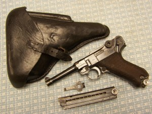 KRIEGHOFF KU BYF41 LUGER P08, MATCHING WITH 2 MAGS, TOOL & HOLSTER