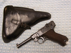 MAUSER S/42 1939 LUGER P08 9mm E/63 POLICE SEAR SAFETY W/HOLSTER