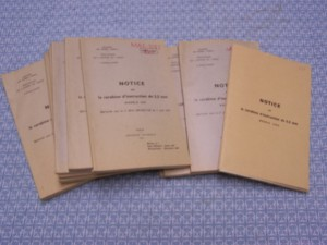 FRENCH MODELE 1945 .22 TRAINER ORIGINAL MANUAL
